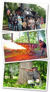 Civil War Skirmish Train Ride